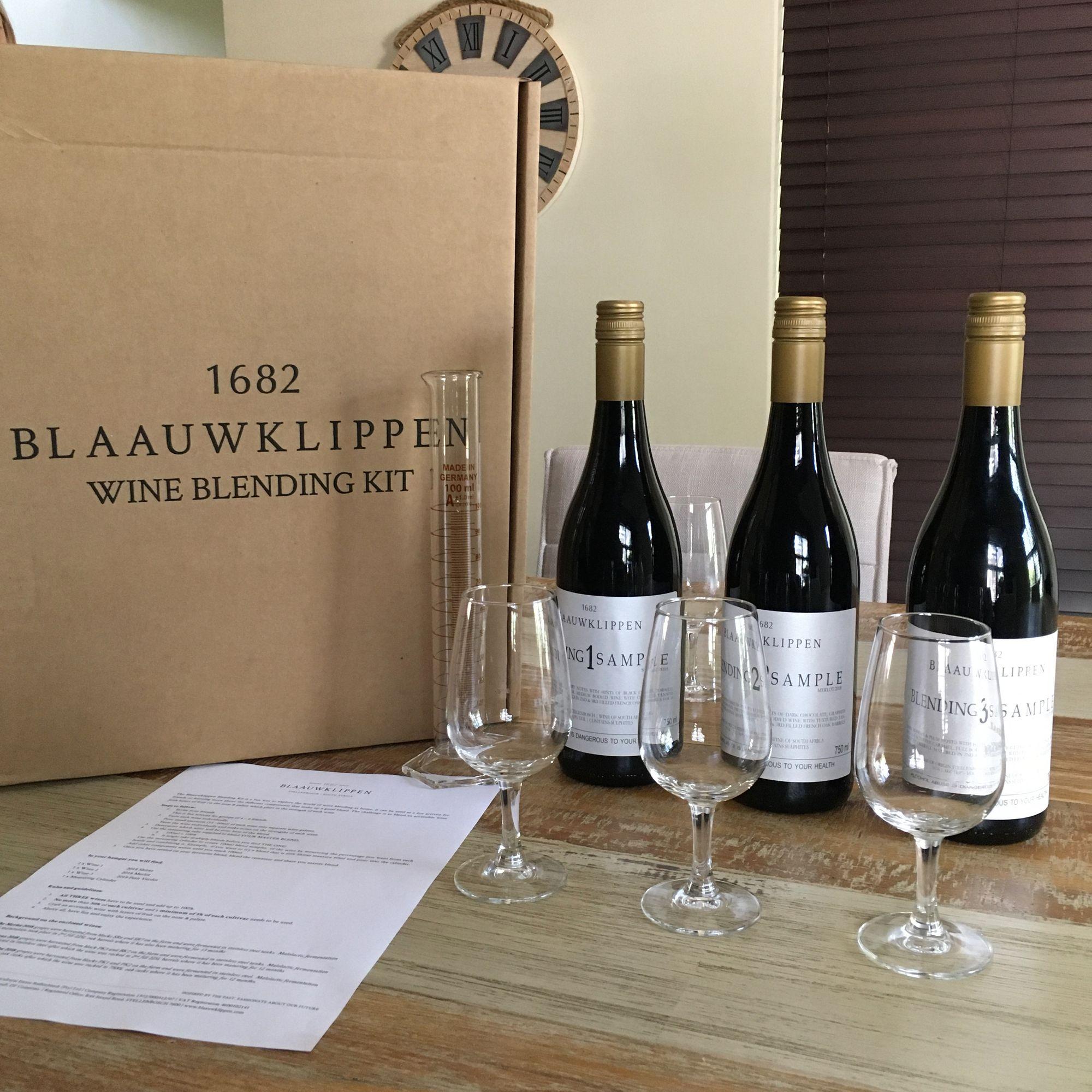 Blaauwklippen Wine Blending Kit base wines