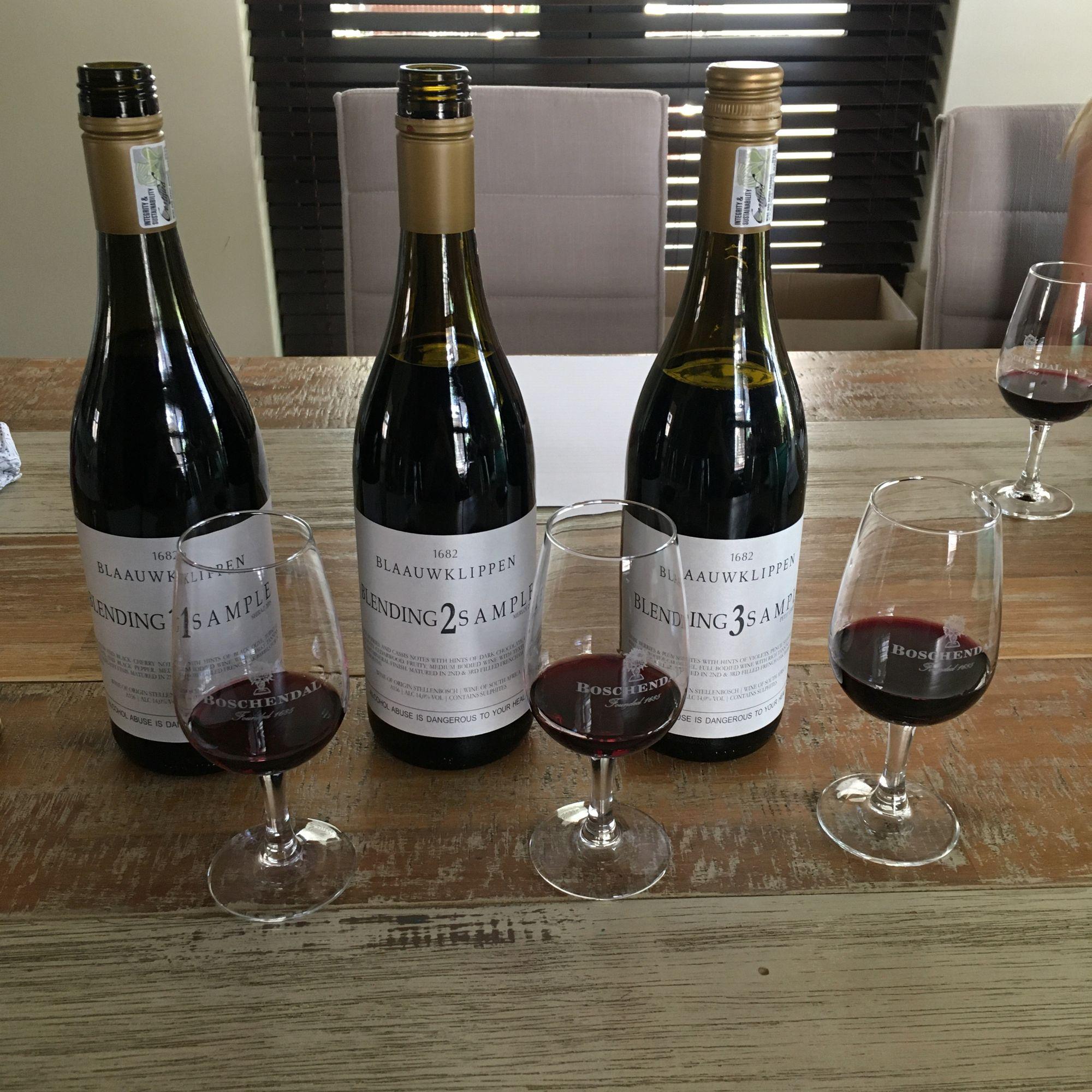 Wine 1 - 2018 Shiraz; Wine 2 - 2018 Merlot; Wine 3 - 2018 Petit Verdot
