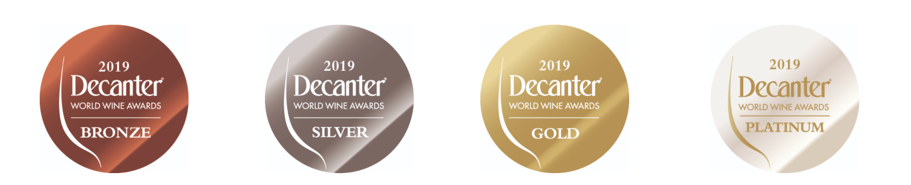 Decanter Awards labels