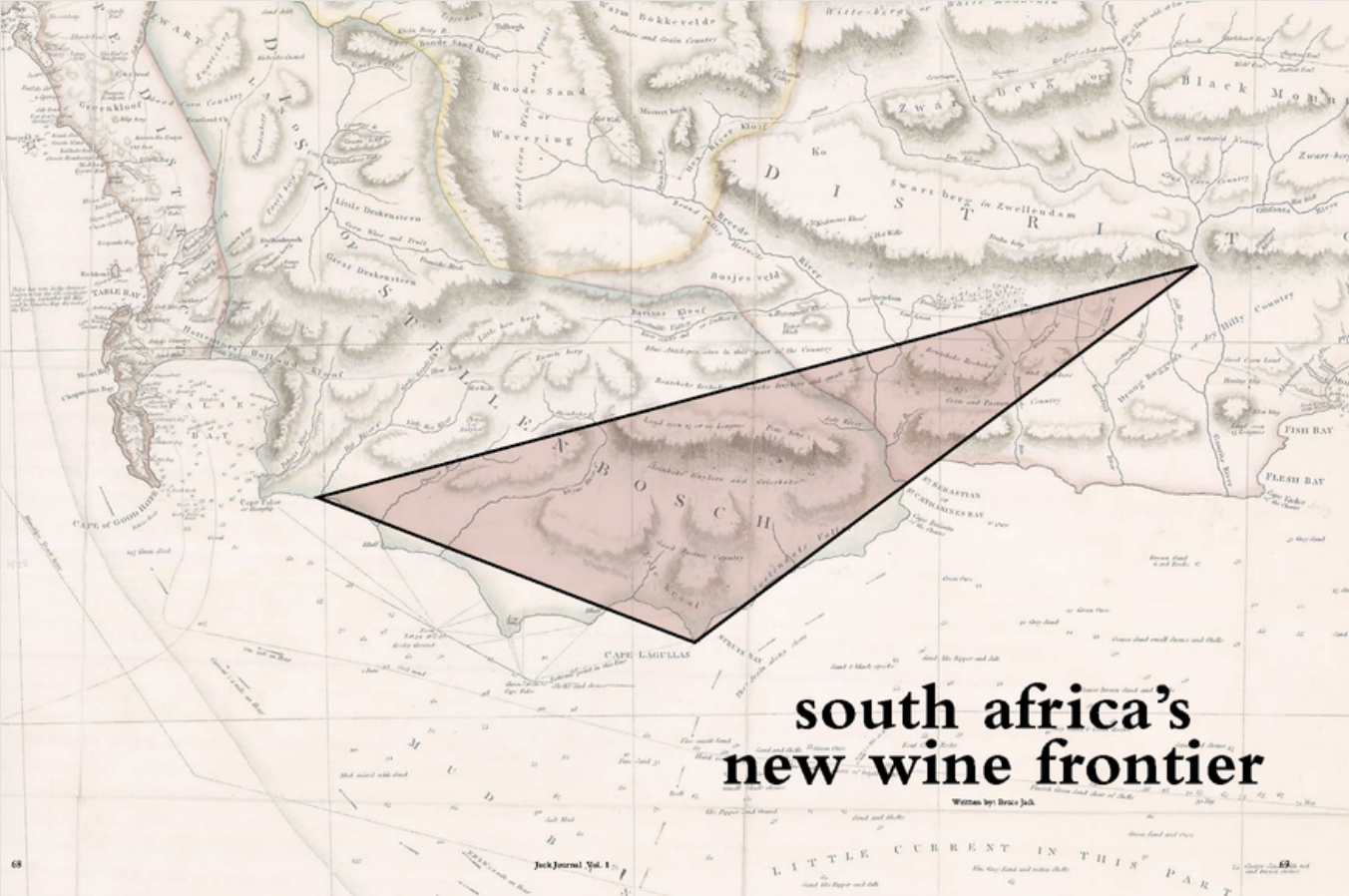 Map of Agulhas Triangle Wine Route