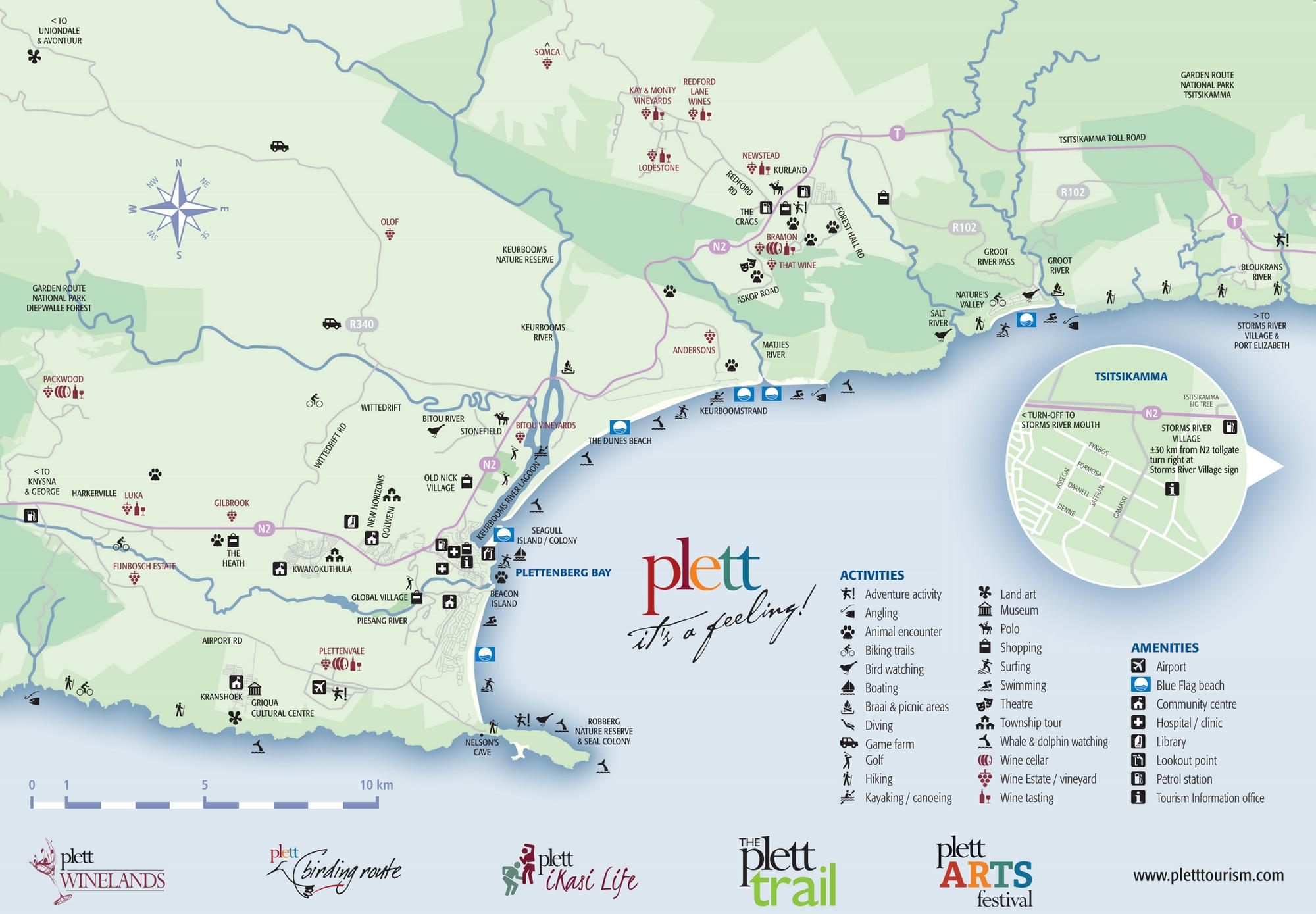 Plett Wine Route Map