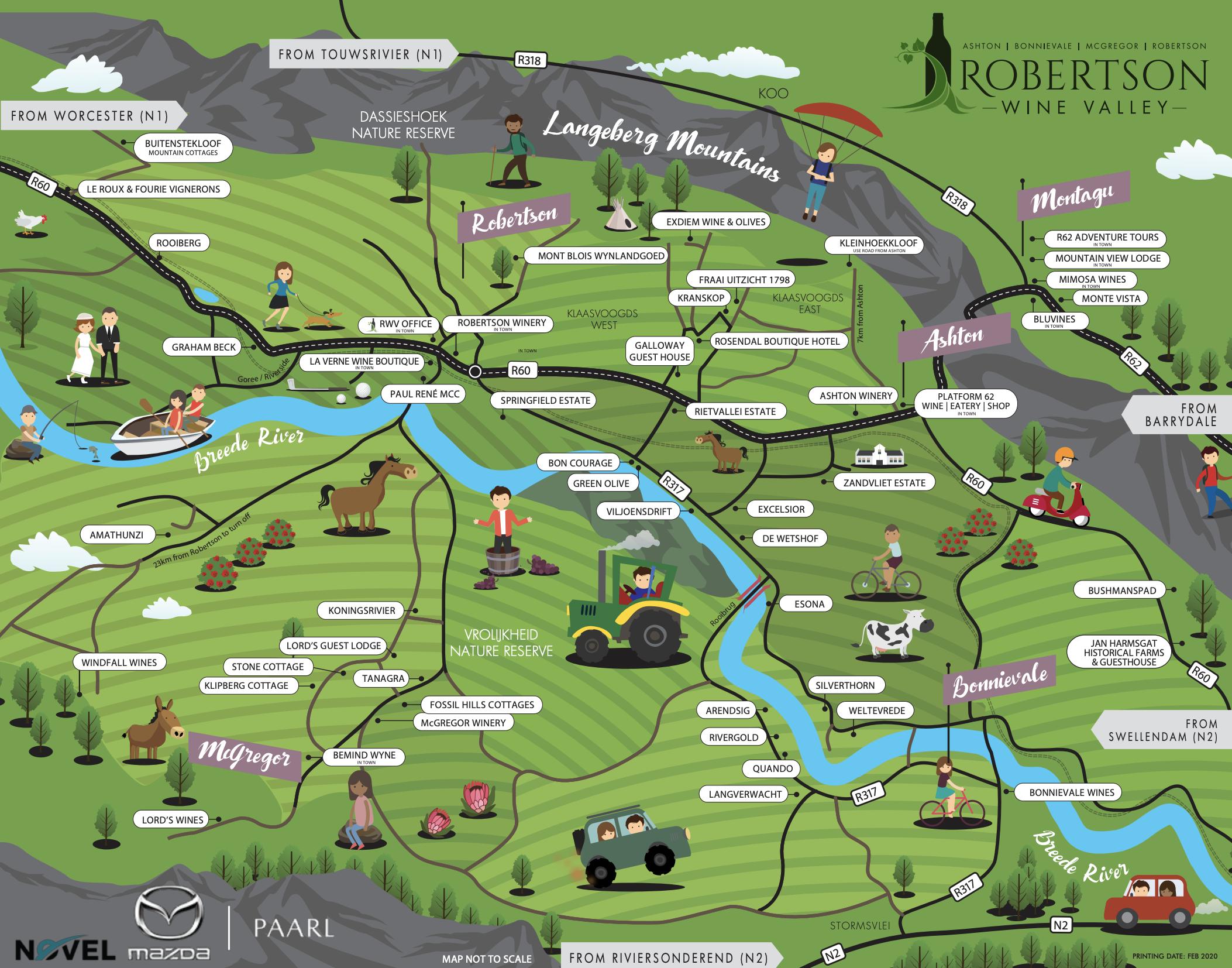 Robertson Wine Valley Map