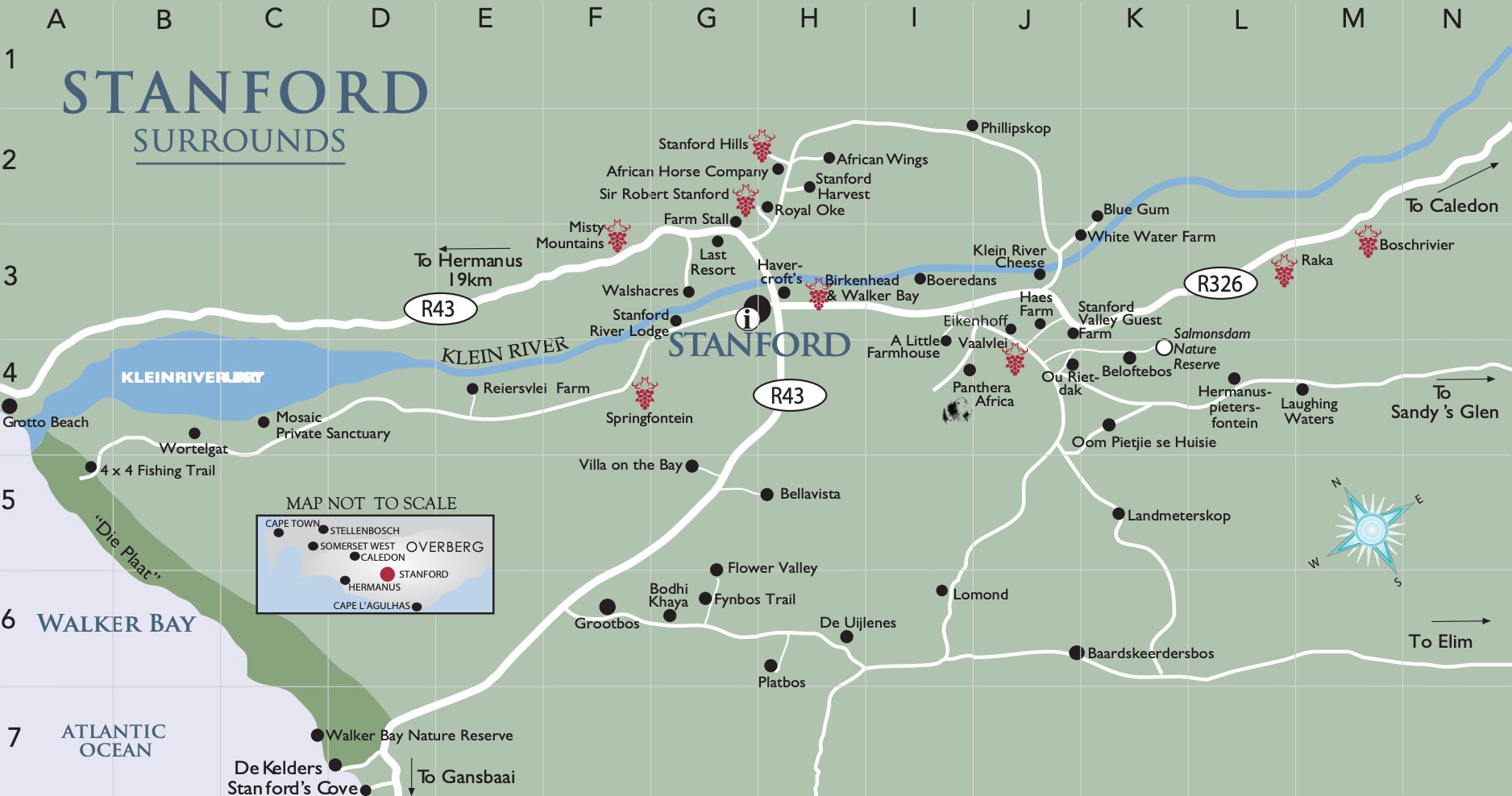 Stanford Wine Route Map