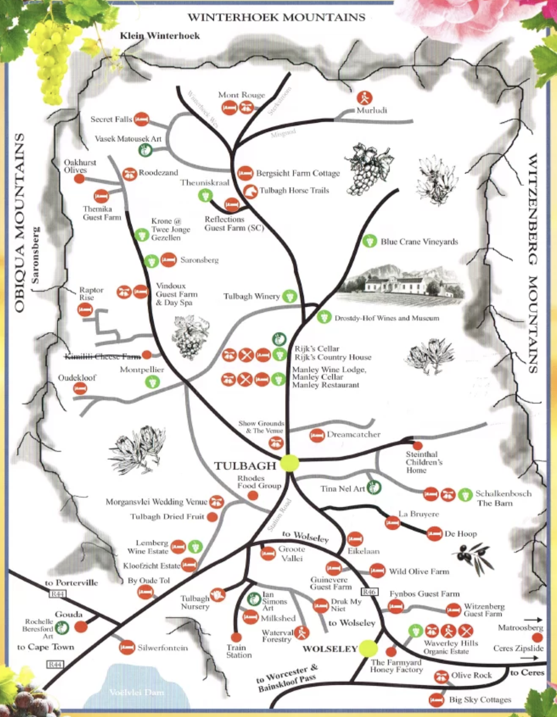 Tulbagh Wine Route Map