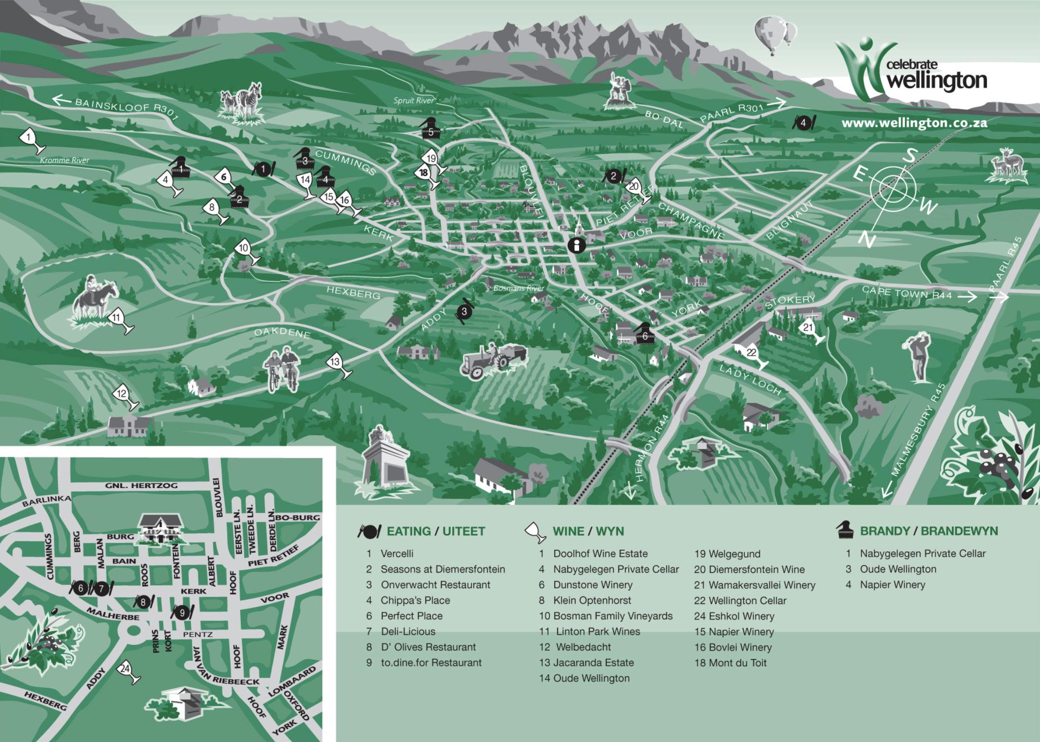 Wellington Wine Route Map