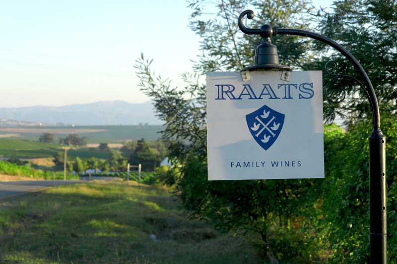 Raats Family Wines name board