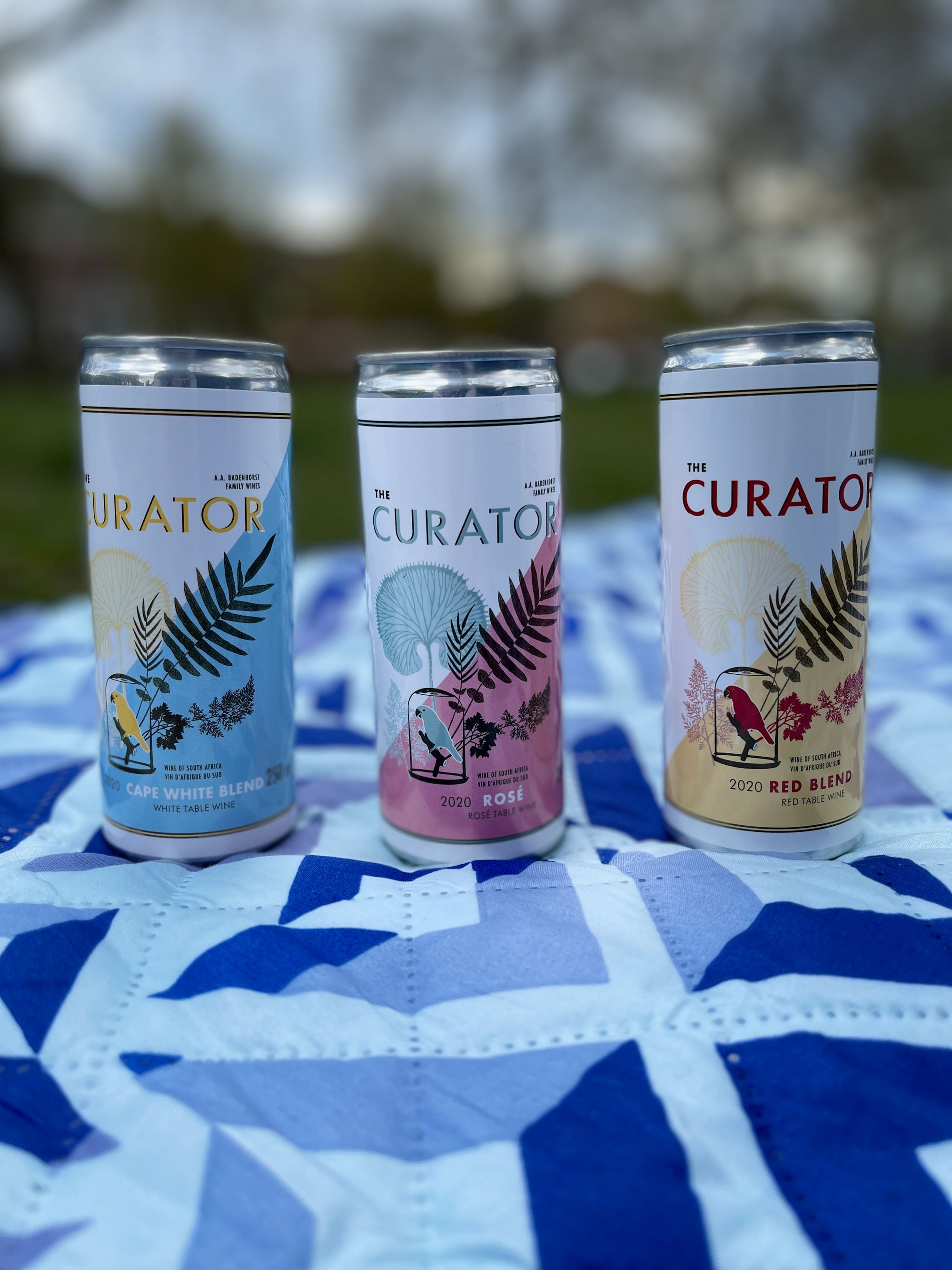 The Curator canned wines from AA Badenhorst